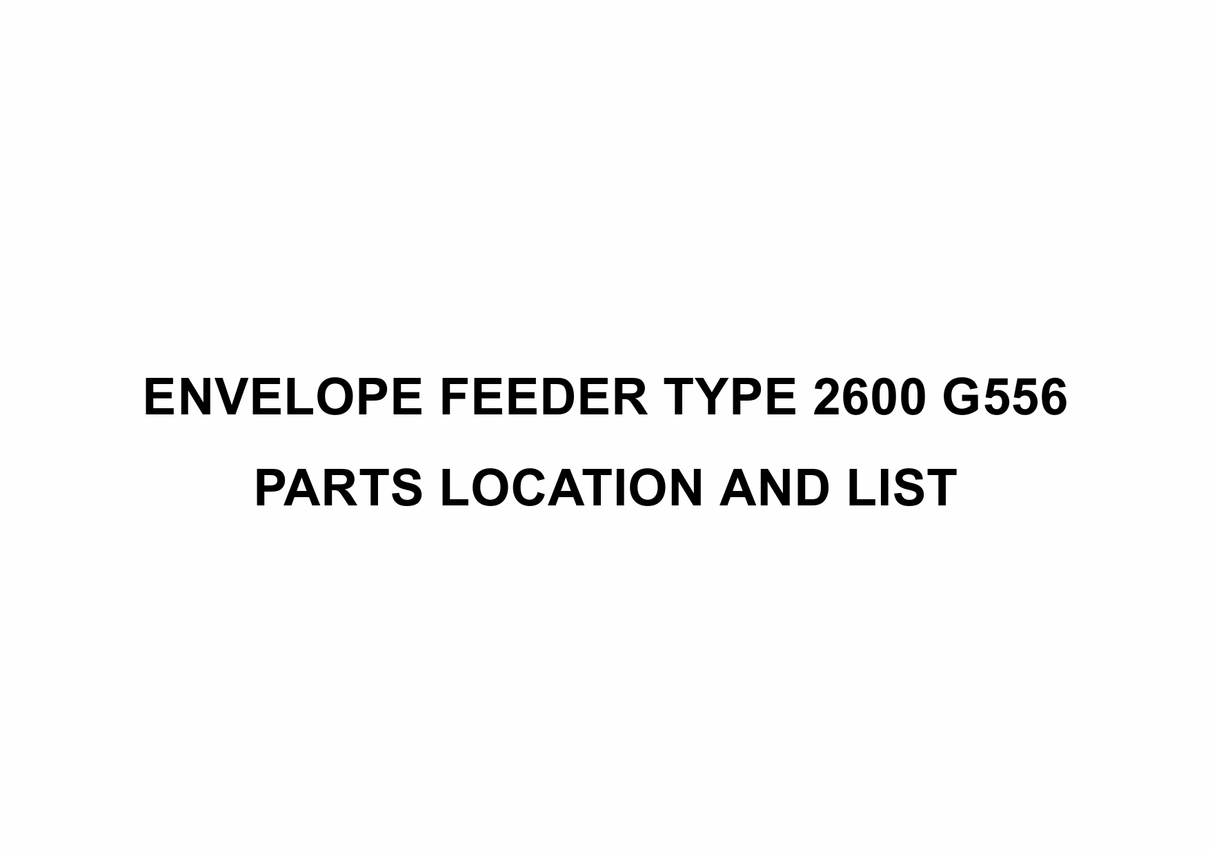 RICOH Options G556 ENVELOPE-FEEDER-TYPE-2600 Parts Catalog PDF download-1